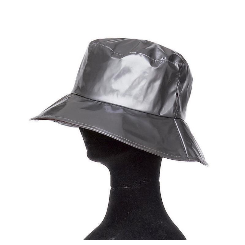 Capeline pluie femme polyuréthane gris foncé doublée polyester - Kausia 79db5d297eb