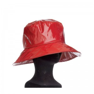 Capeline pluie femme polyurethane rouge doublee polyesther