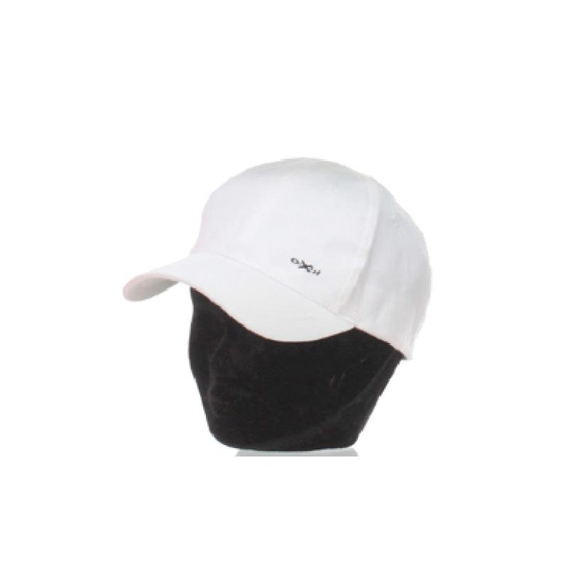 Casquette baseball enfant coton unie blanc broderie ooxen - Kausia 935a1872c8e