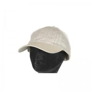 Casquette pailletée femme lin viscose beige visière paille