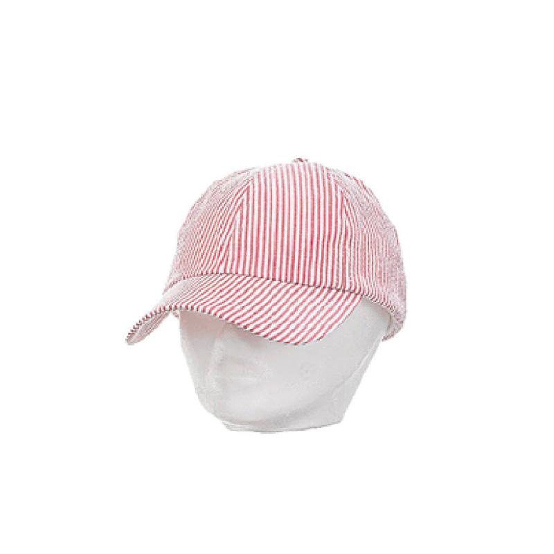 Casquette rayures enfant longue visière rouge et blanc - Kausia a97526d8f7a