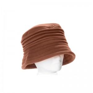 Chapeau cloche femme marron clair polaire intérieur doublé