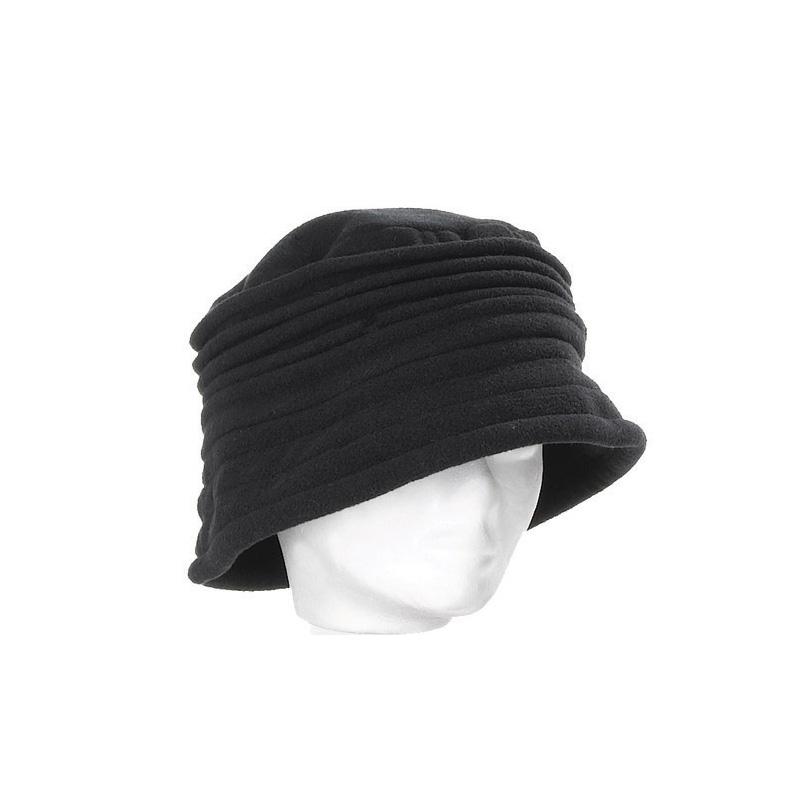 a6b9d7dcbd Chapeau cloche femme noir polaire intérieur doublé - Kausia