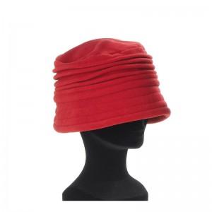 Chapeau cloche femme rouge foncé polaire intérieur doublé