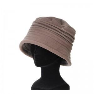 Chapeau cloche femme taupe polaire interieur doublé