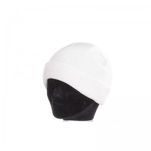 Bonnet enfant blanc large revers