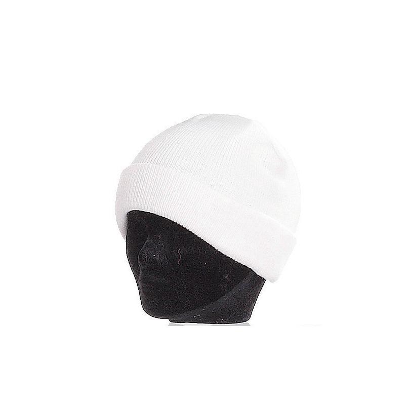 Bonnet enfant blanc large revers - Kausia 9177634148b