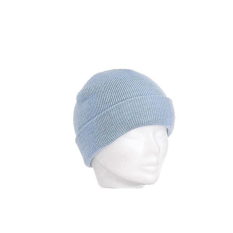 Bonnet enfant bleu ciel large revers - Kausia c2afb288679