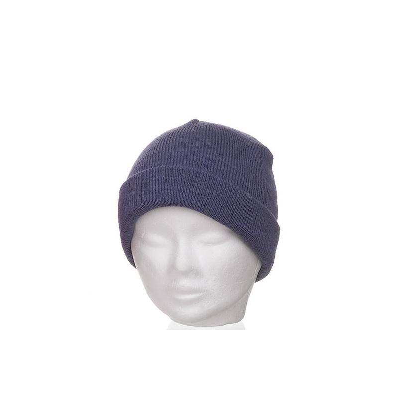 Bonnet enfant bleu jean large revers - Kausia 5b54ad42cca