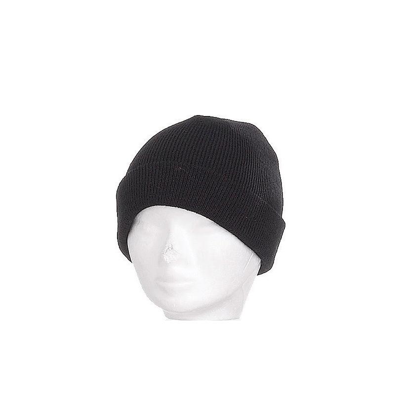 Bonnet enfant noir large revers - Kausia 195be062297
