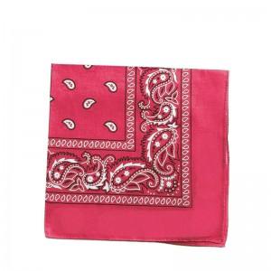 Carré foulard bandana coton fuchsia 55 x 55