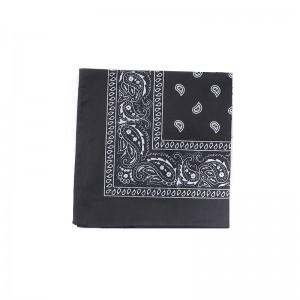 Carré foulard bandana coton noir 55 x 55