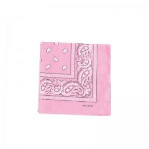 Carré foulard bandana coton rose 55 x 55