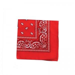 Carré foulard bandana coton rouge 55 x 55