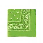 Carré foulard bandana coton vert 55 x 55