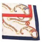 Carré foulard marine polyester 90 x 90