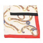 Carré foulard rouge polyester 90 x 90
