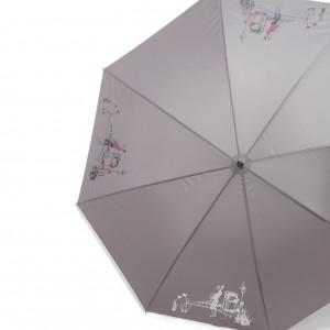 Parapluie droit femme magique automatique dessin fantaisie femme manche canne caoutchouc 8 baleines 59 cm