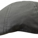 Casquette plate Texas Waxed Cotton Stetson noir