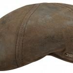 Casquette plate Texas Stetson cuir marron