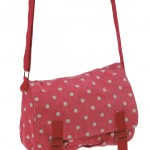 Sac besace Pauline rouge pois gris