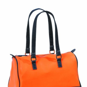 Sac Manhattan en plastique orange