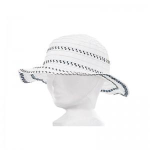 Chapeau fille polyester blanc et marine