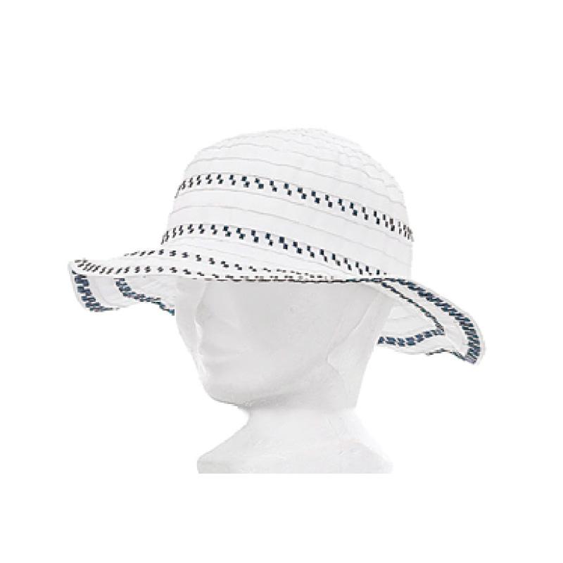 Chapeau fille polyester blanc et marine - Kausia 7cf4f0c4364
