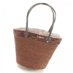 Panier paille marron plus sequins