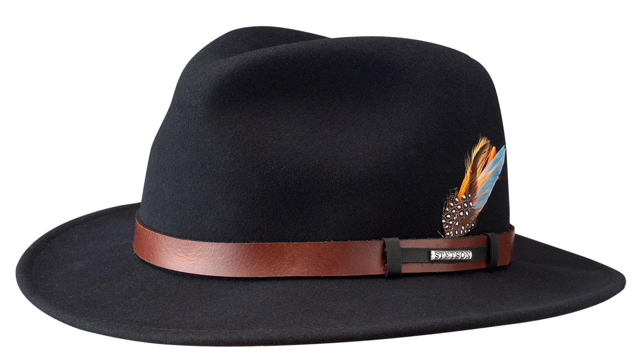Chapeau malléable Sardis Stetson noir - Kausia d602a7ea56c