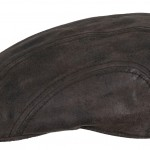 Casquette plate Madison Stetson cuir marron