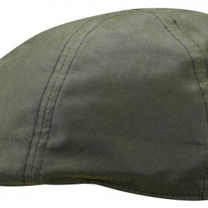 Casquette plate Texas Waxed Cotton Stetson olive