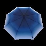 Parapluie pliant femme automatique transformation dégradé de bleu