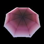 Parapluie pliant femme automatique transformation dégradé de bordeaux