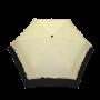 Parapluie pliant femme automatique froufrou écru et noir