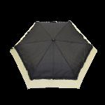 Parapluie pliant femme automatique froufrou noir et écru