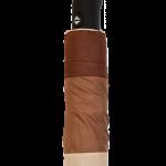 Parapluie pliant femme automatique dôme tri-couleur marron