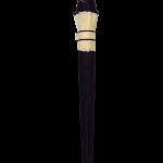Parapluie droit mixte automatique dôme bi-couleur violet et écru