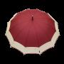 Parapluie droit mixte automatique dôme bi-couleur bordeaux et écru