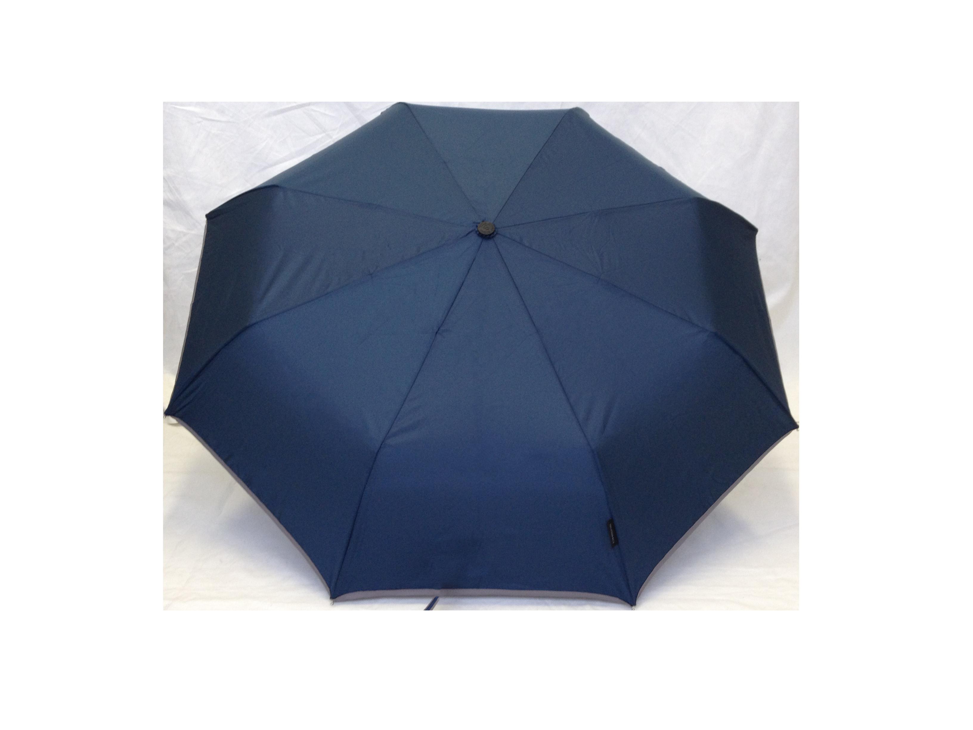 Parapluie pliant femme automatique bleu petite bordure - Parapluie cloche transparent isotoner ...