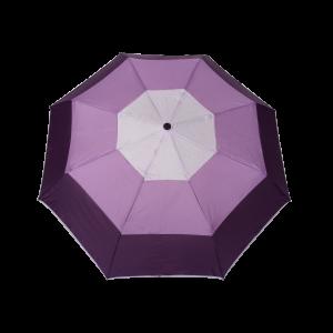Parapluie pliant femme automatique dôme tri-couleur violet