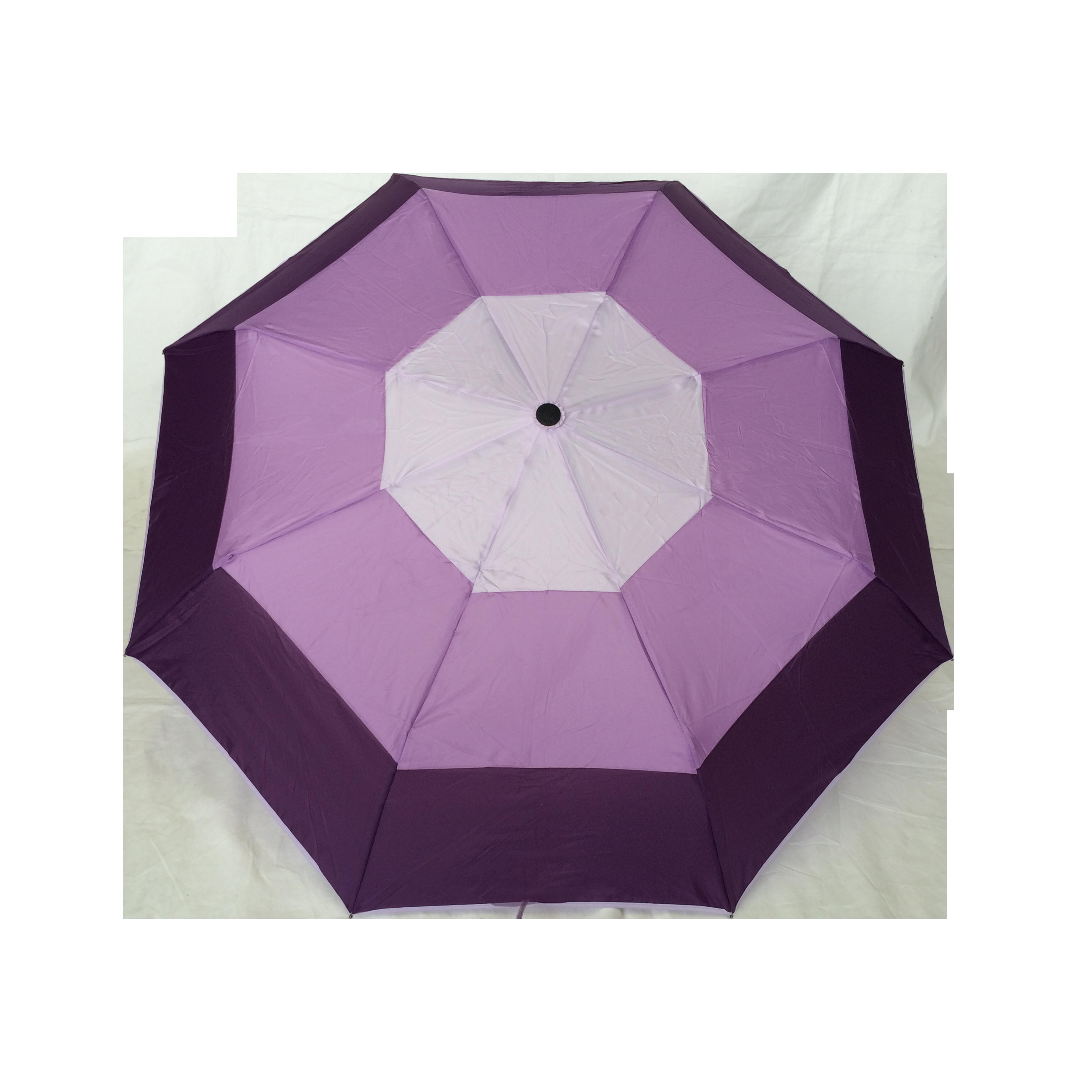 Parapluie pliant femme automatique d me tri couleur vert - Parapluie cloche transparent isotoner ...