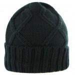 Bonnet torsadé noir