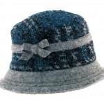 Chapeau en tweed avec bord uni Caron