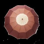 Parapluie droit femme automatique dôme tri-couleur