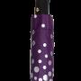 Parapluie pliant femme automatique violet à pois argentés