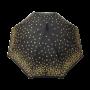 Parapluie droit femme automatique noir à pois dorés