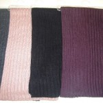 Echarpe unie en tricot à côtes