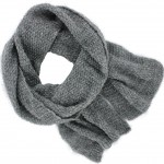 Echarpe tricot fantaisie sequins et lurex grise