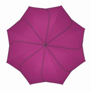 Parapluie droit mixte automatique Sunflower Pierre Cardin fuchsia et gris